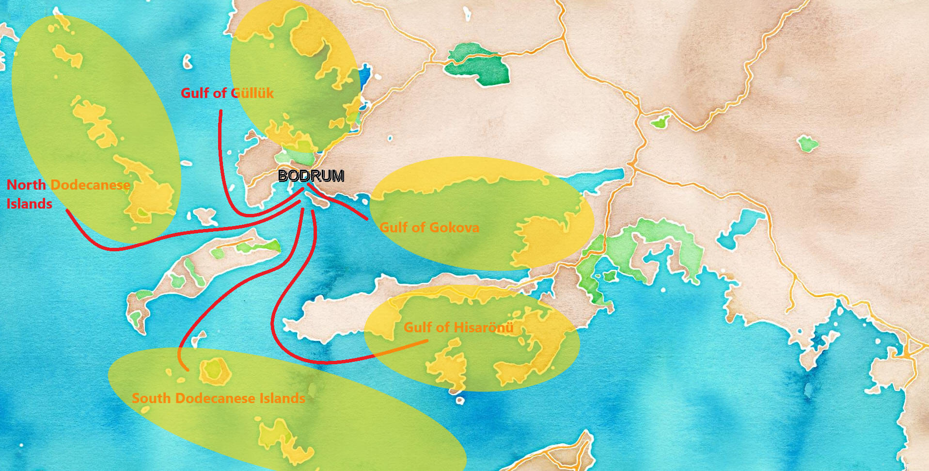 Routes from Bodrum