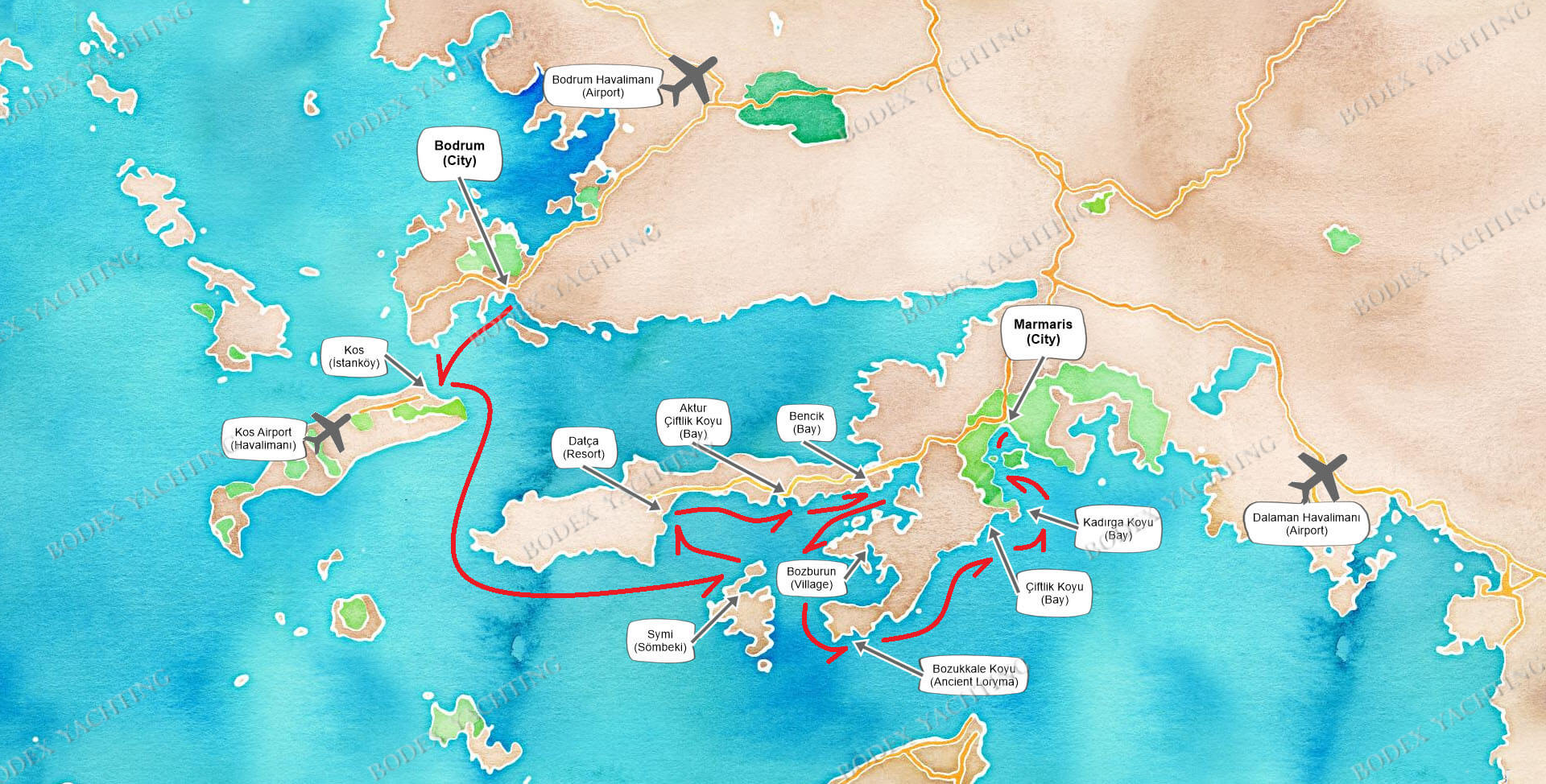 PRIVATE Charter Bodrum-Kos-Symi-Marmaris