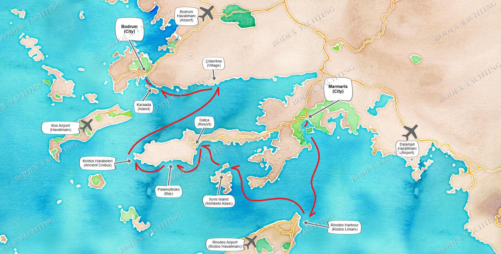 PRIVATE Charter Marmaris-Rhodes-Symi-Bodrum
