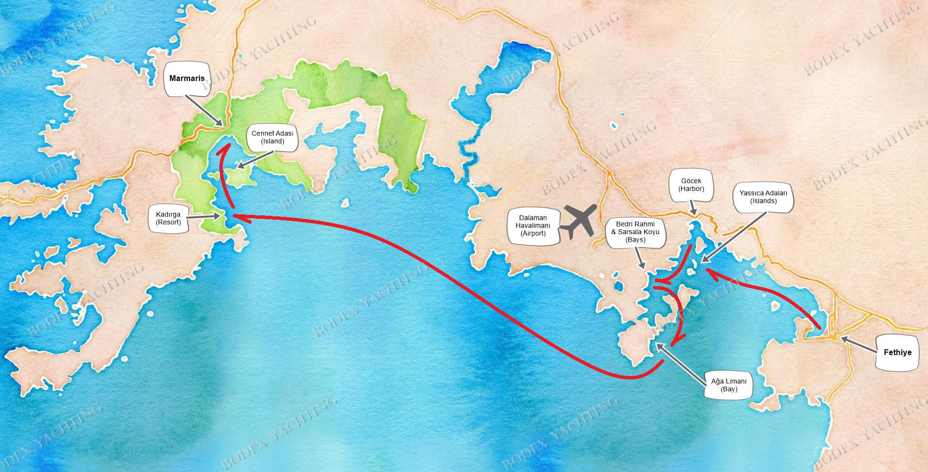 CABIN Charter - Fethiye to Marmaris