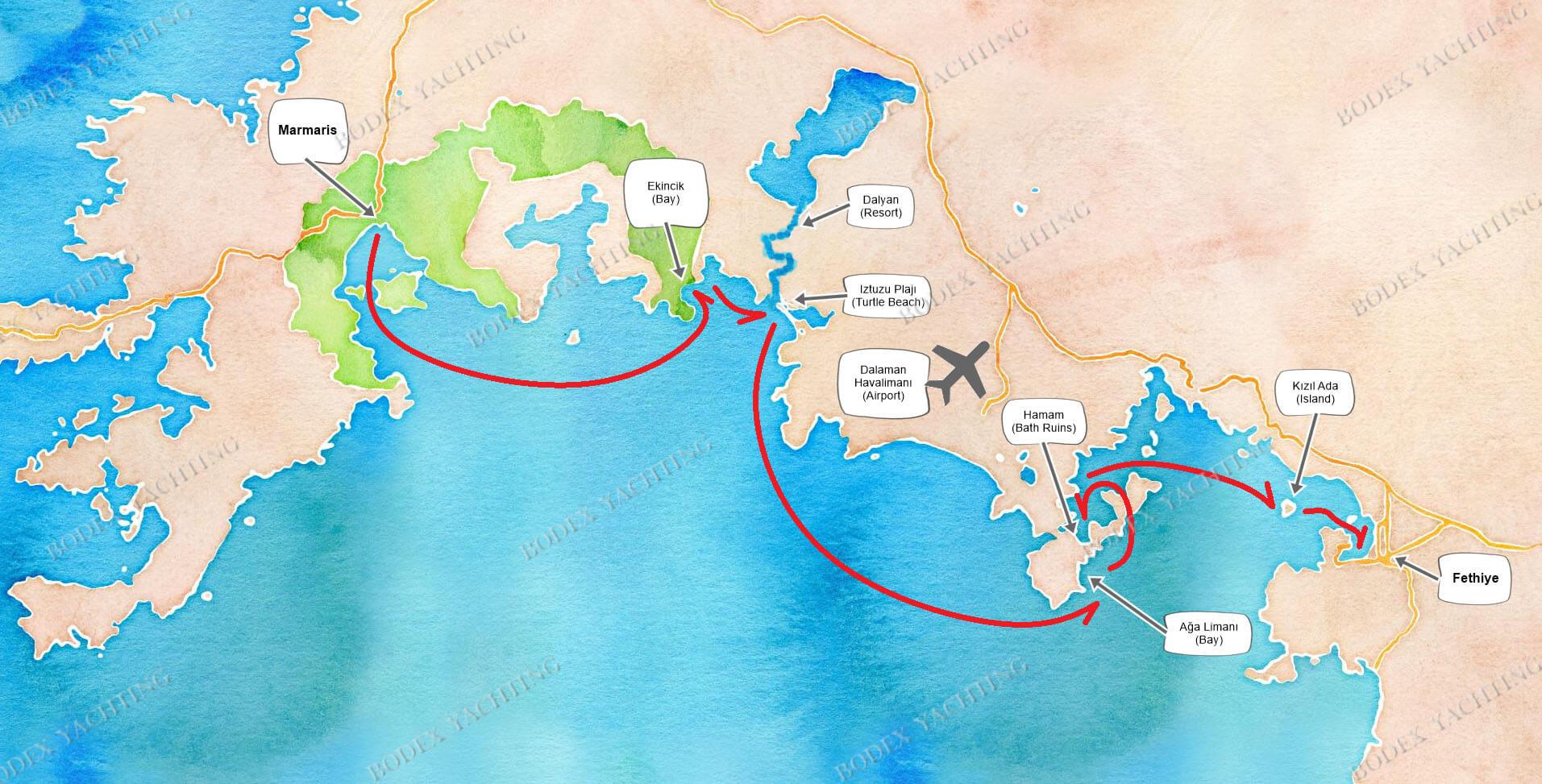 CABIN Charter - Marmaris to Fethiye