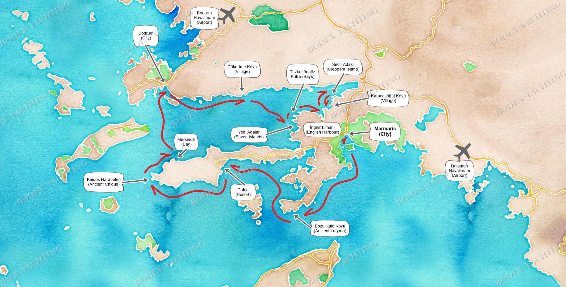 PRIVATE Charter Marmaris-Bodrum-Karacasogut