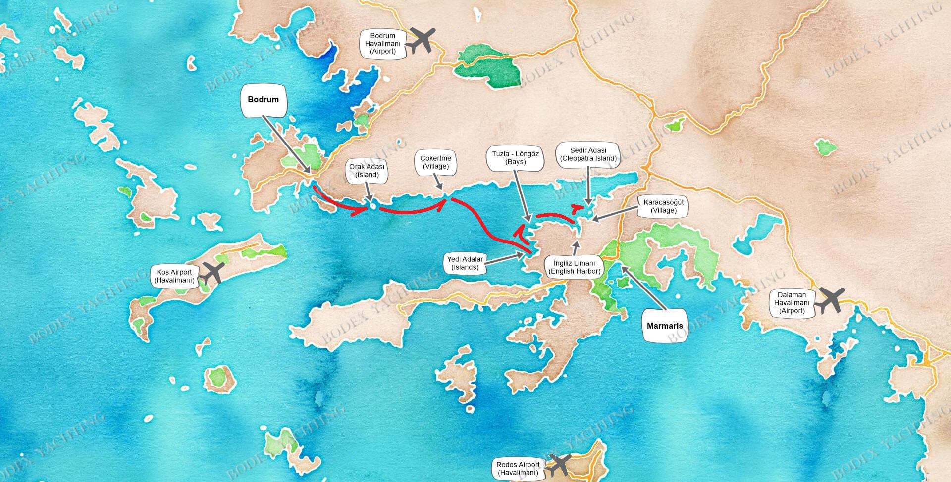 CABIN Charter - Bodrum to Karacasogut