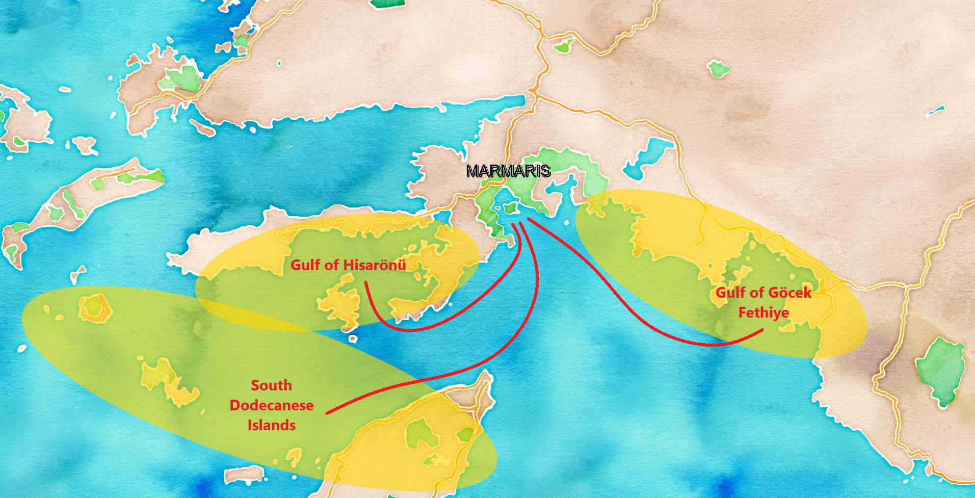 Routes from Marmaris